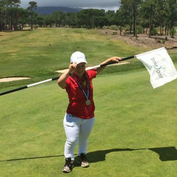 Jennifer Sräga, Vize-Europameisterin der Golferinnen mit Behinderung