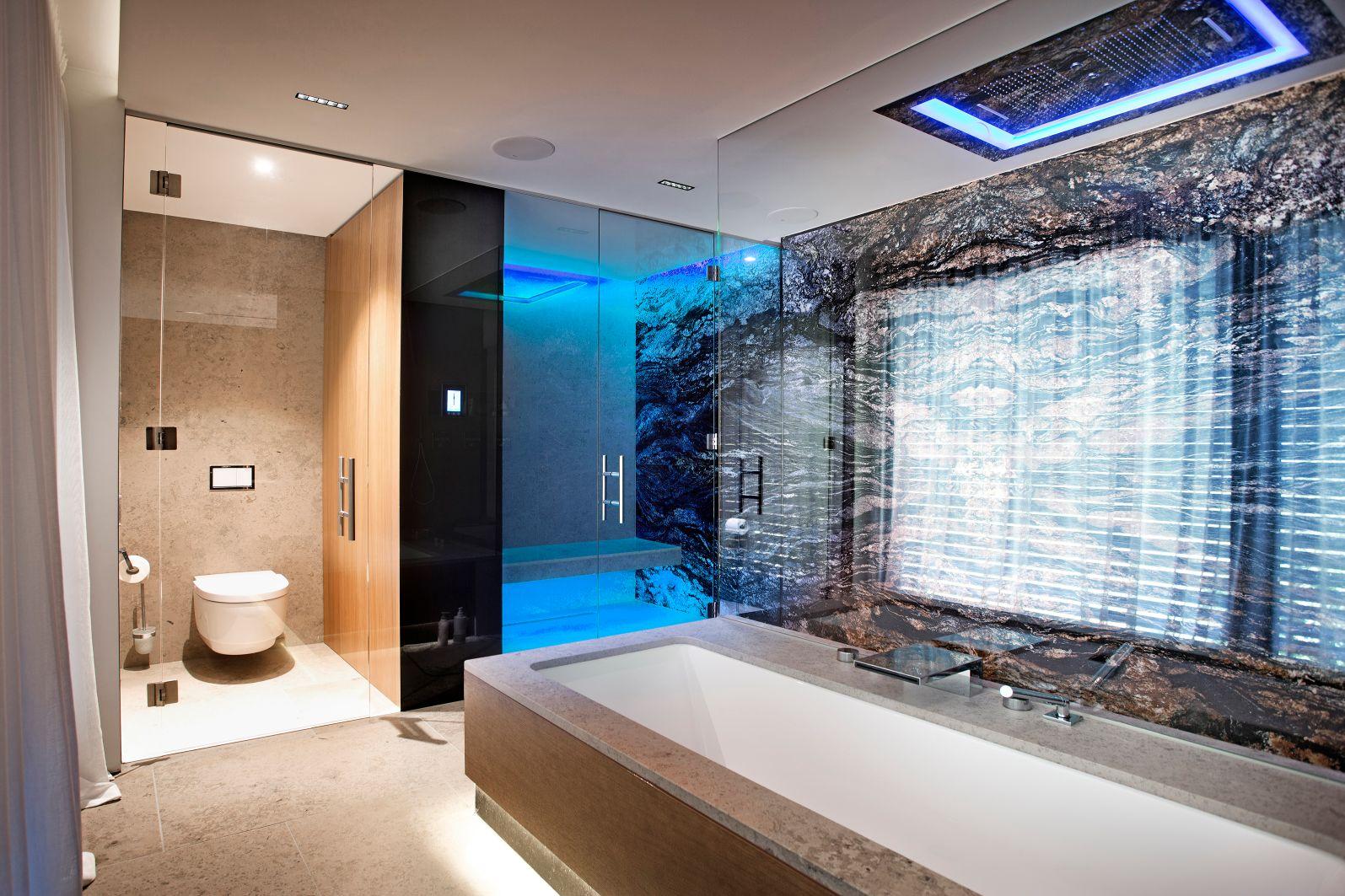Dusche blau