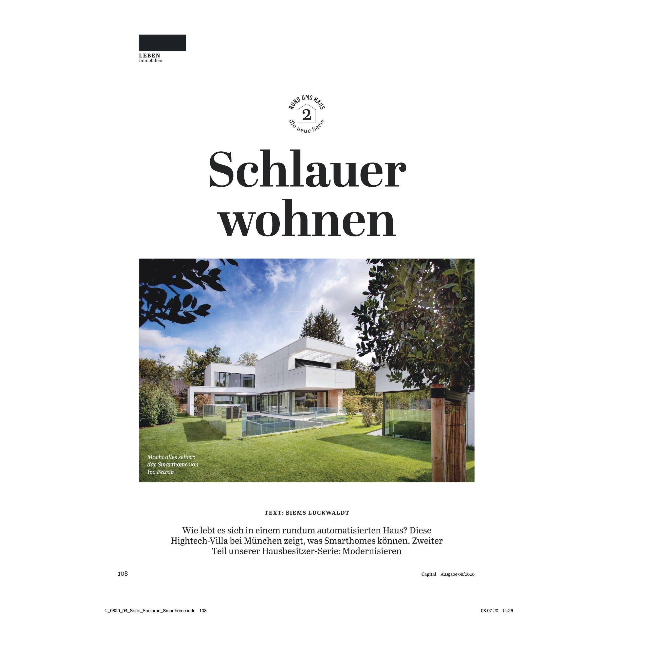 Presse Faszinerendes Smart Home bei München   Elektro Hieber